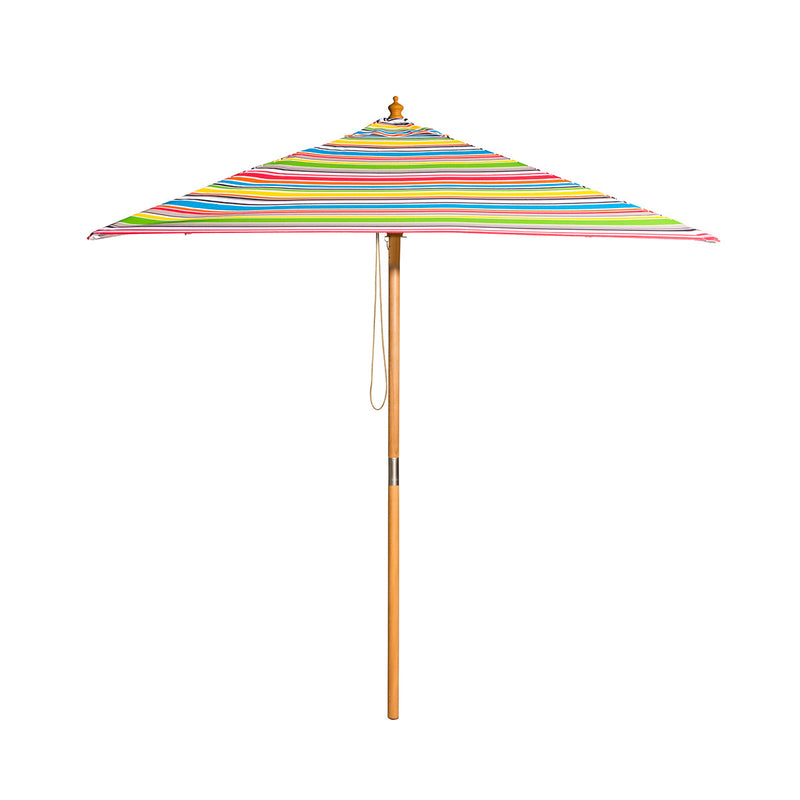 Billy Fresh Signature - 2m square multicolour stripe umbrella