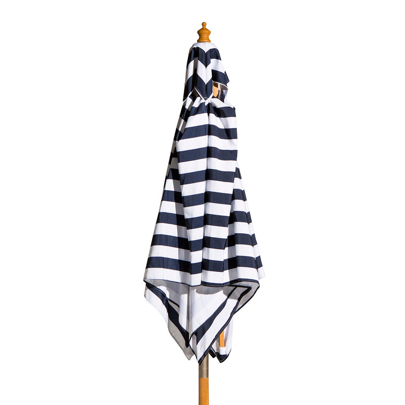 St. Tropez - 2m diameter square blue and white stripe umbrella