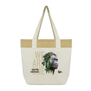 "All natural fibre ""We Are One"" Kopral reusable shopping bag"