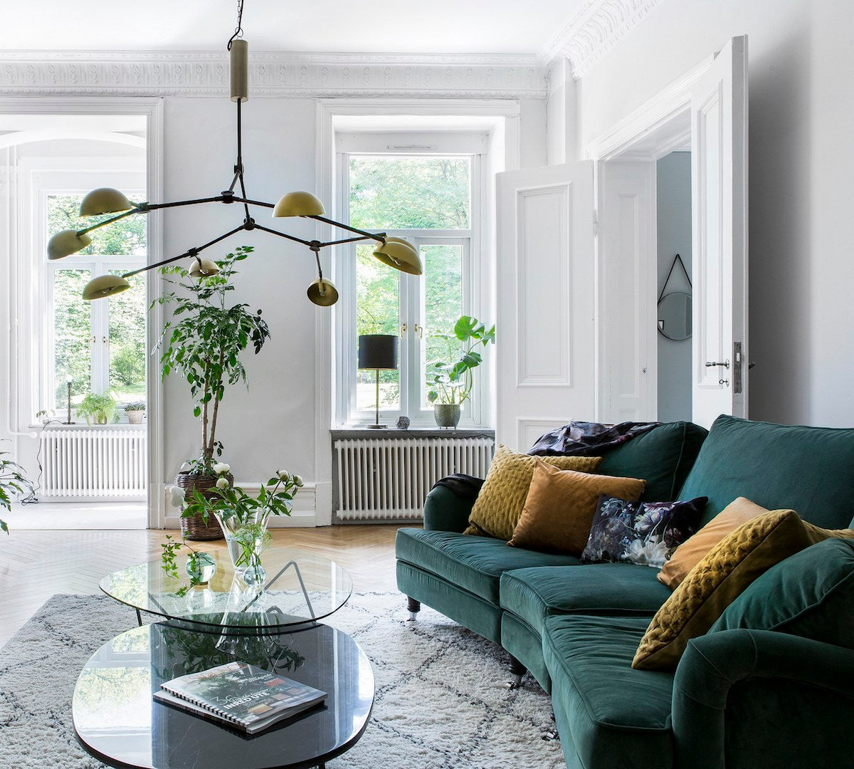 Green & Greenery Styled Together in a Cute Apartment