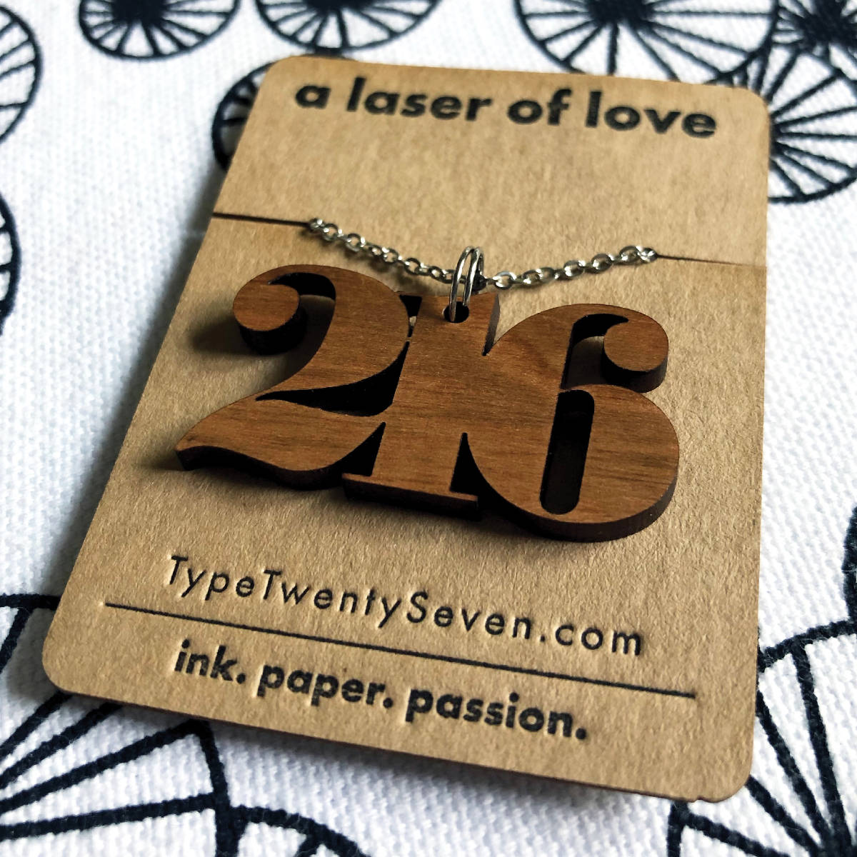 216 Necklace | Serif - made cleveland