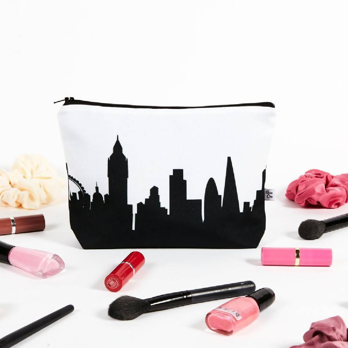 Cleveland OH Skyline Cosmetic Makeup Bag - made cleveland