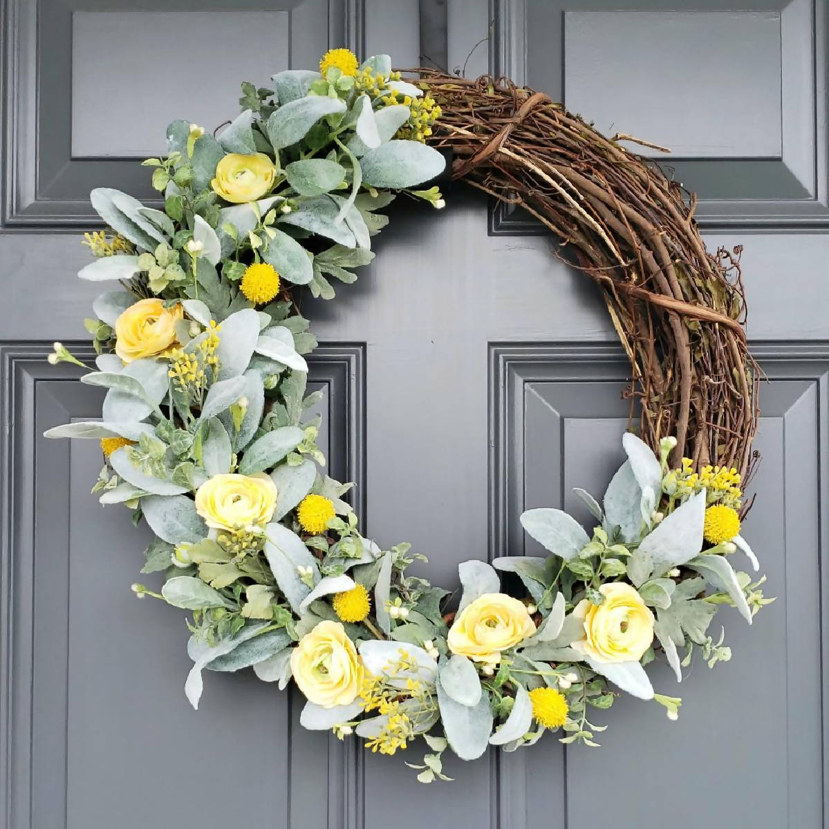 Custom Front Door Wreath 18 inches - made cleveland
