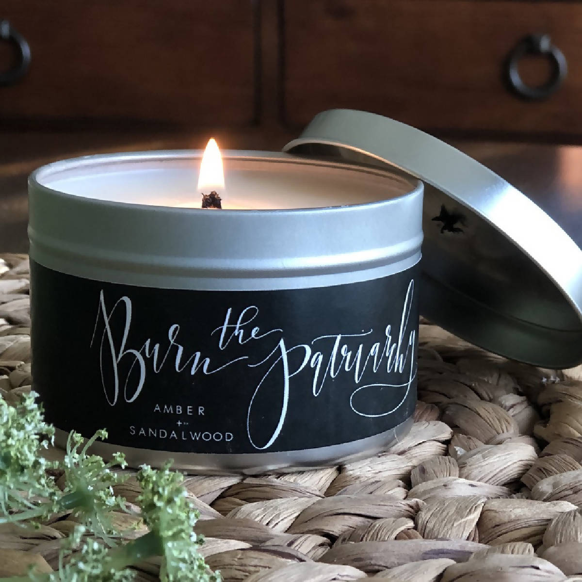 Burn the Patriarchy Amber + Sandalwood Natural Soy Candle