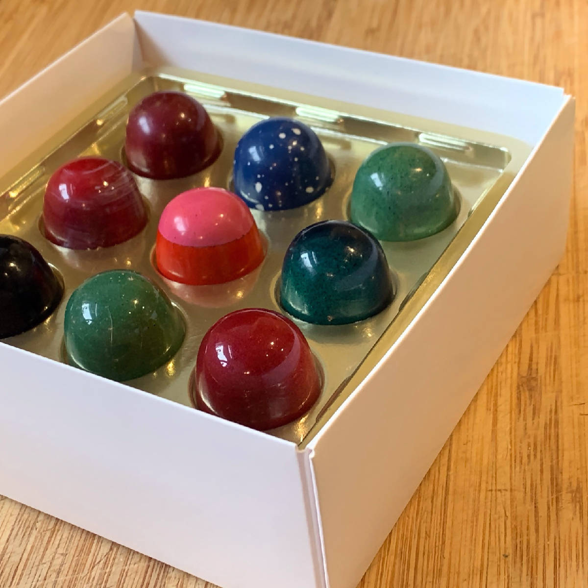Signature hand-painted bonbons - made cleveland