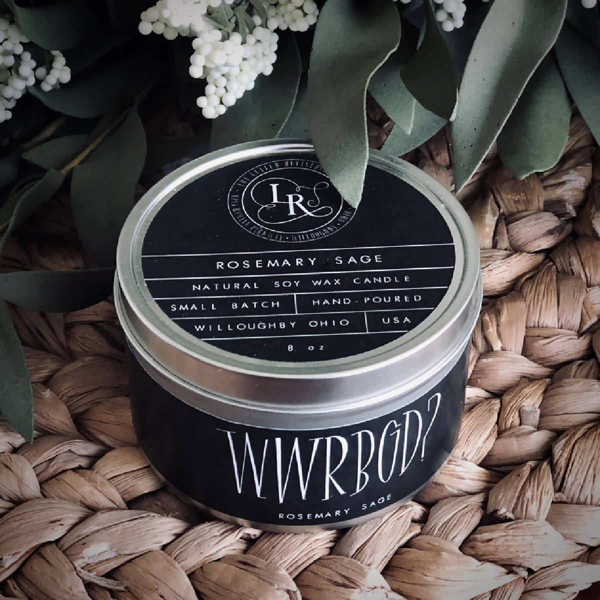 WWRBGD Rosemary Sage Natural Soy Candle
