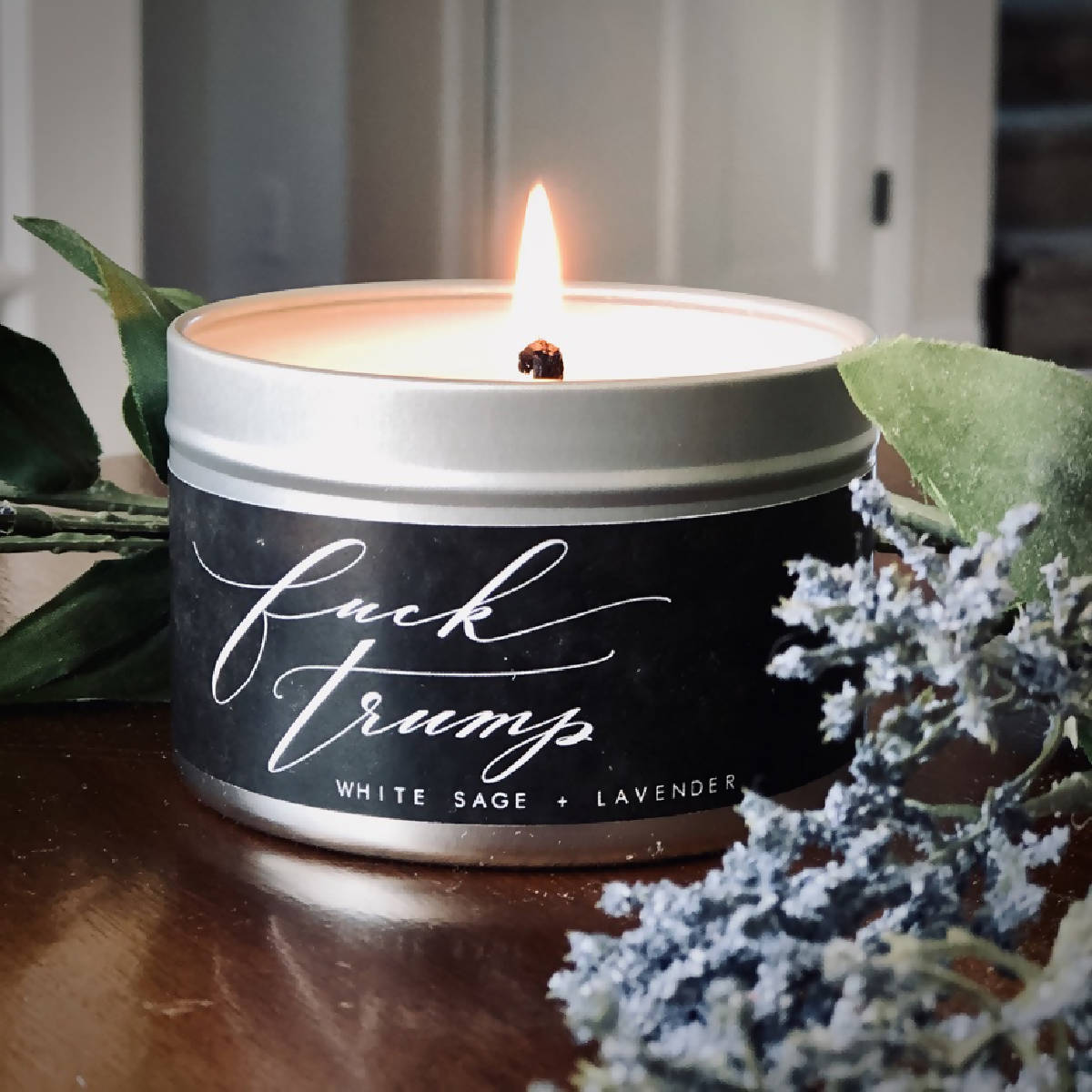 Fuck Trump White Sage + Lavender Natural Soy Candle