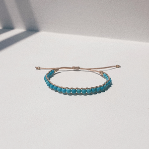Something Blue, Turquoise bracelet with a hint of gold