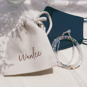 Summer Days, 3-Way Facemask Strap / Choker / Bracelet in Clear