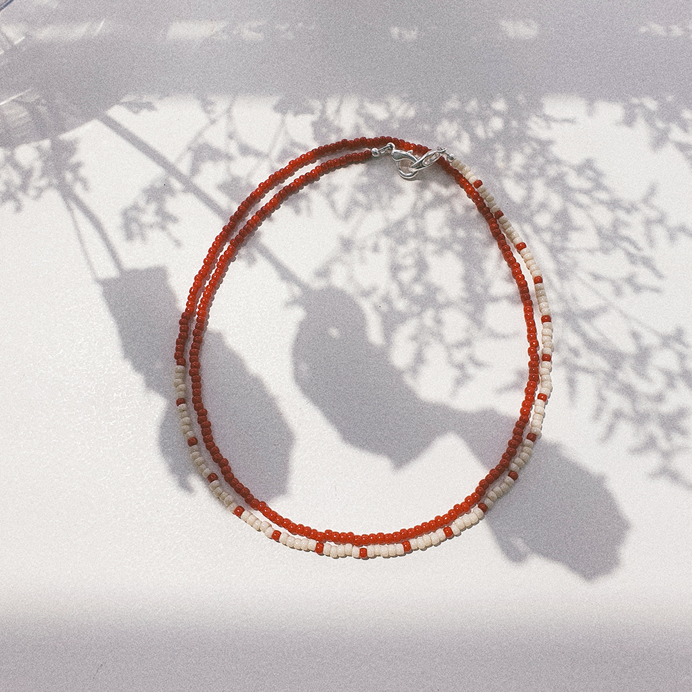 Summer Days, 3-Way Facemask Strap / Choker / Bracelet in Red