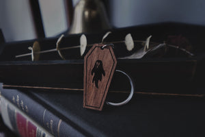 Ghostie Coffin Keychain