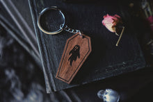 Load image into Gallery viewer, Ghostie Coffin Keychain