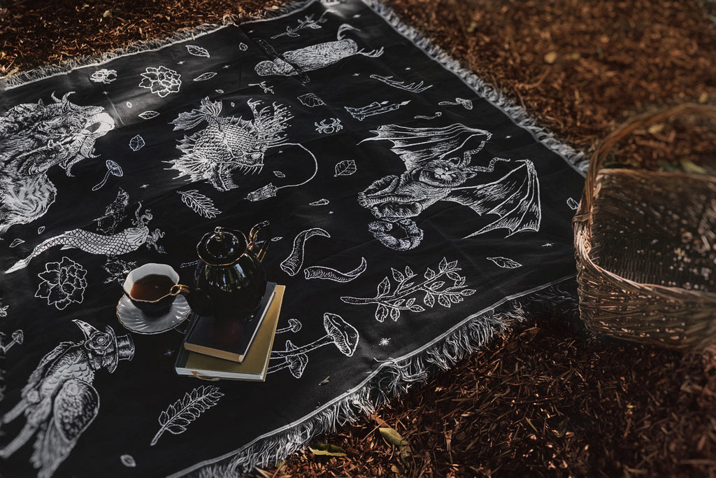 The Creatures Woven Tapestry Blanket