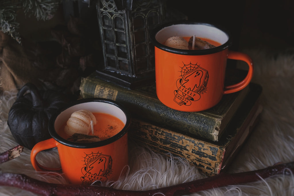 Limited Edition: Ghostie Mug + 'Lanterns of Hallows Harvest Candle
