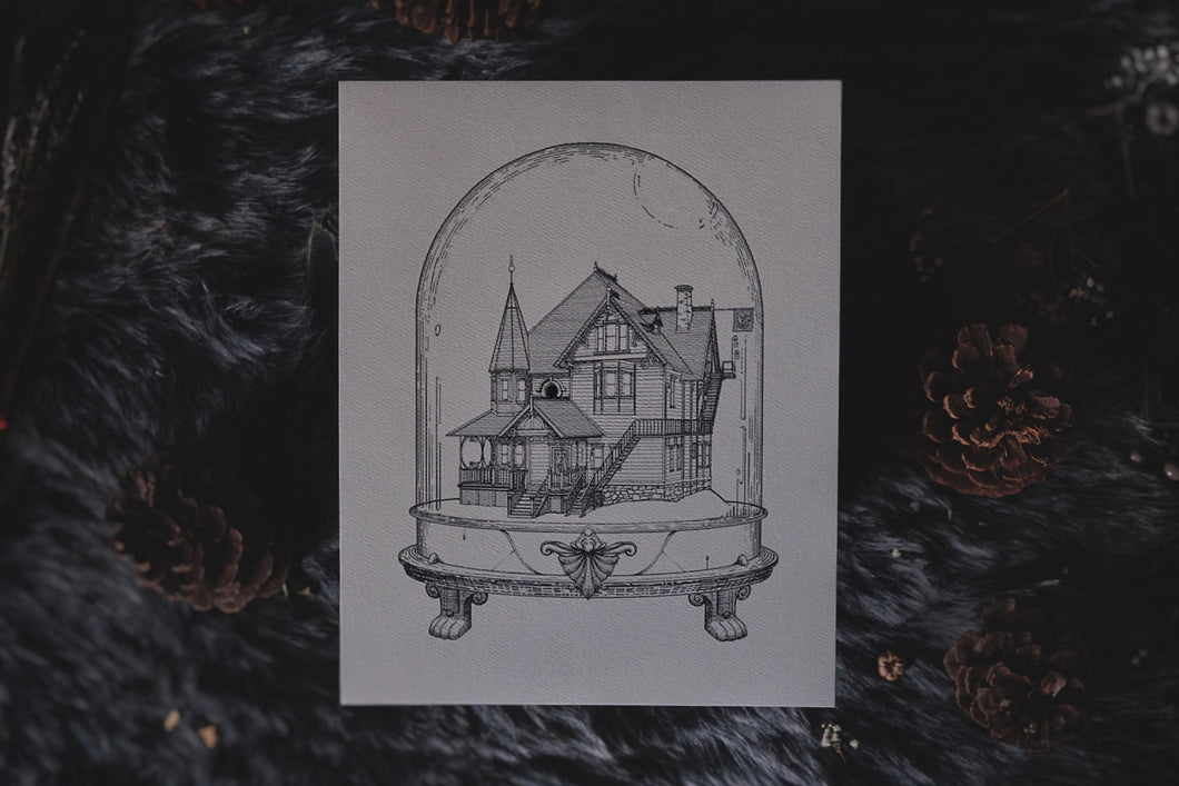 The Pink Palace: Houses of Horror | Art Print