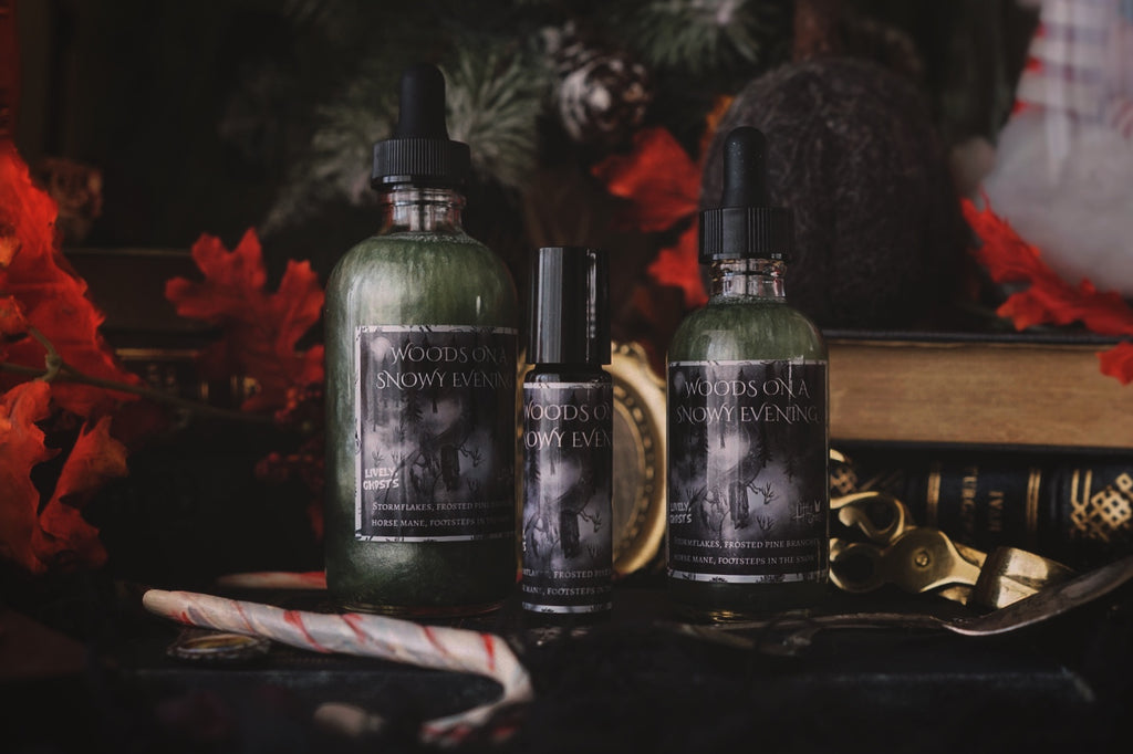 Woods On A Snowy Evening Bath & Body Shimmer Oil