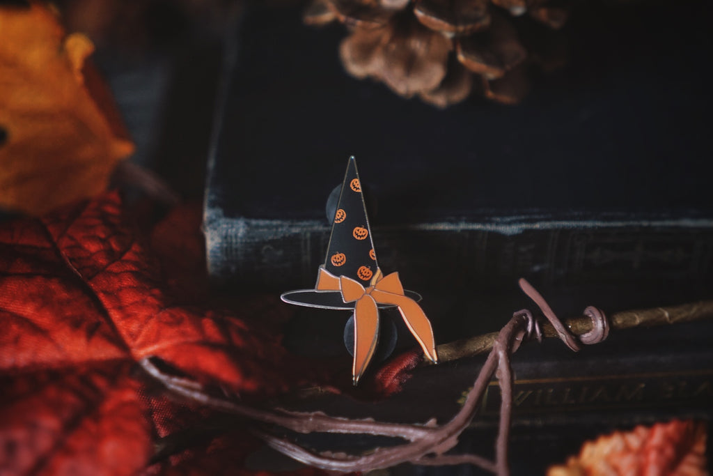 The Witch of Haunted Hallows Enamel Pin