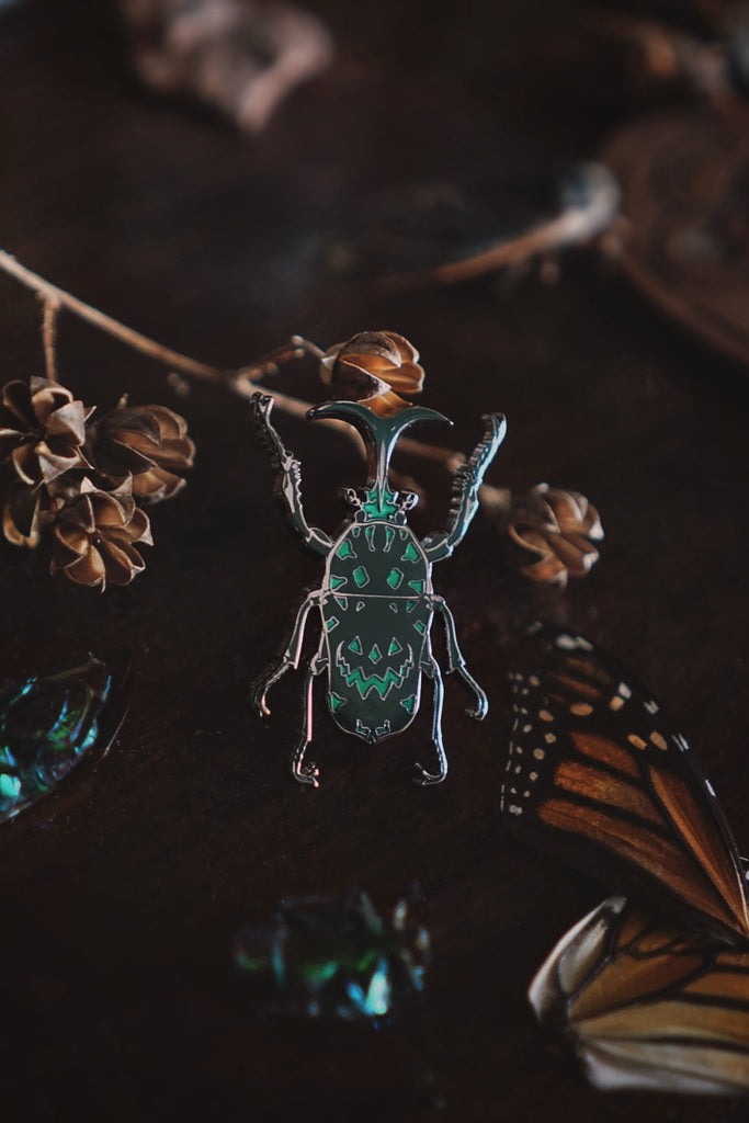 Tiny Insects Enamel Pin