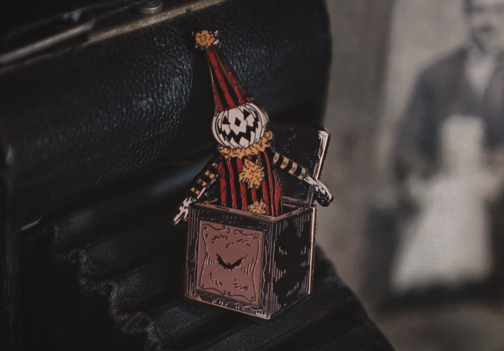 Jack In The Box Enamel Pin