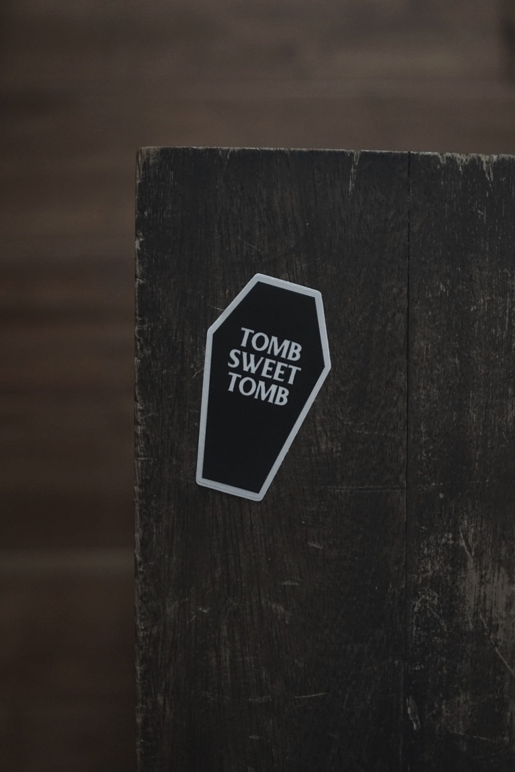 Haunted Mansion Tomb Sweet Tomb Coffin Sticker