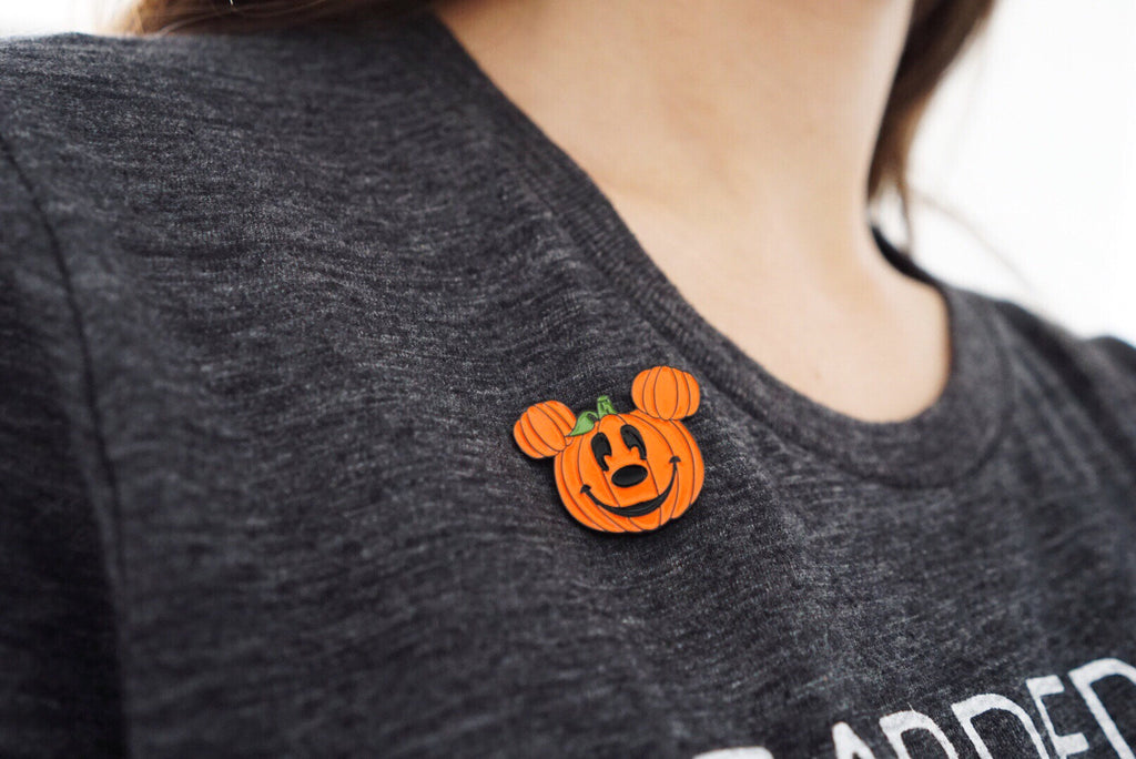 Pumpkin Mickey Enamel Pin