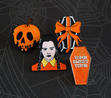 Load image into Gallery viewer, Wednesday Addams Enamel Pin