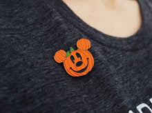 Load image into Gallery viewer, Pumpkin Mickey Enamel Pin