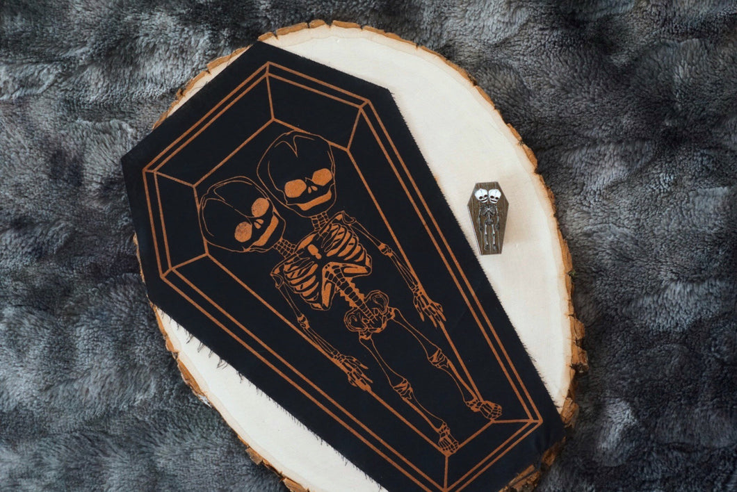 Skeleton Twins Coffin Patch