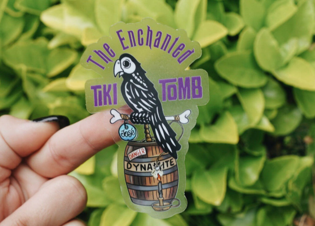 The Enchanted Tiki Tomb Sticker