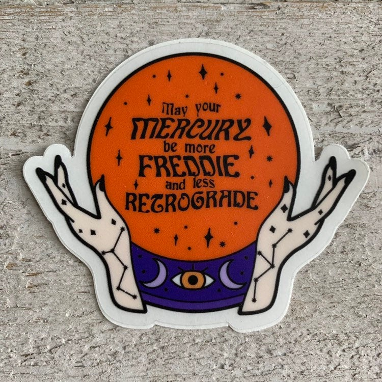 Freddie Mercury in Retrograde Sticker