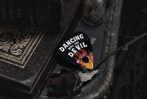 Dancing with the Devil Enamel Pin