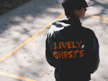"Load image into Gallery viewer, Lively Ghosts ""Ghostie"" Unisex Logo Zip-Up Hoodie"