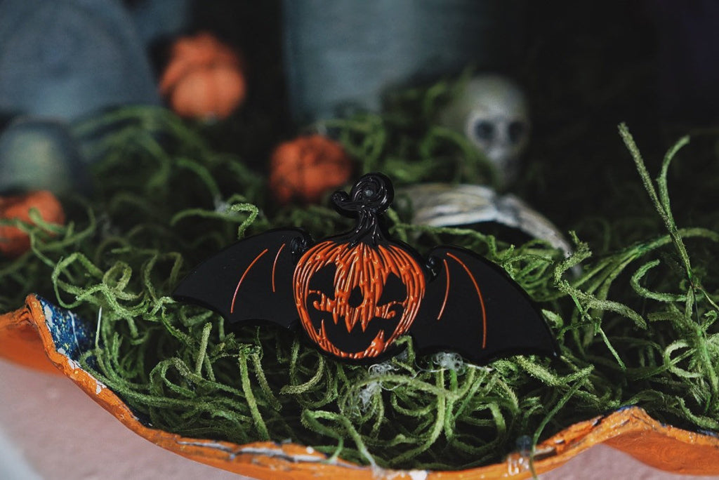 Twisty, the Flying Pumpkin Enamel Pin