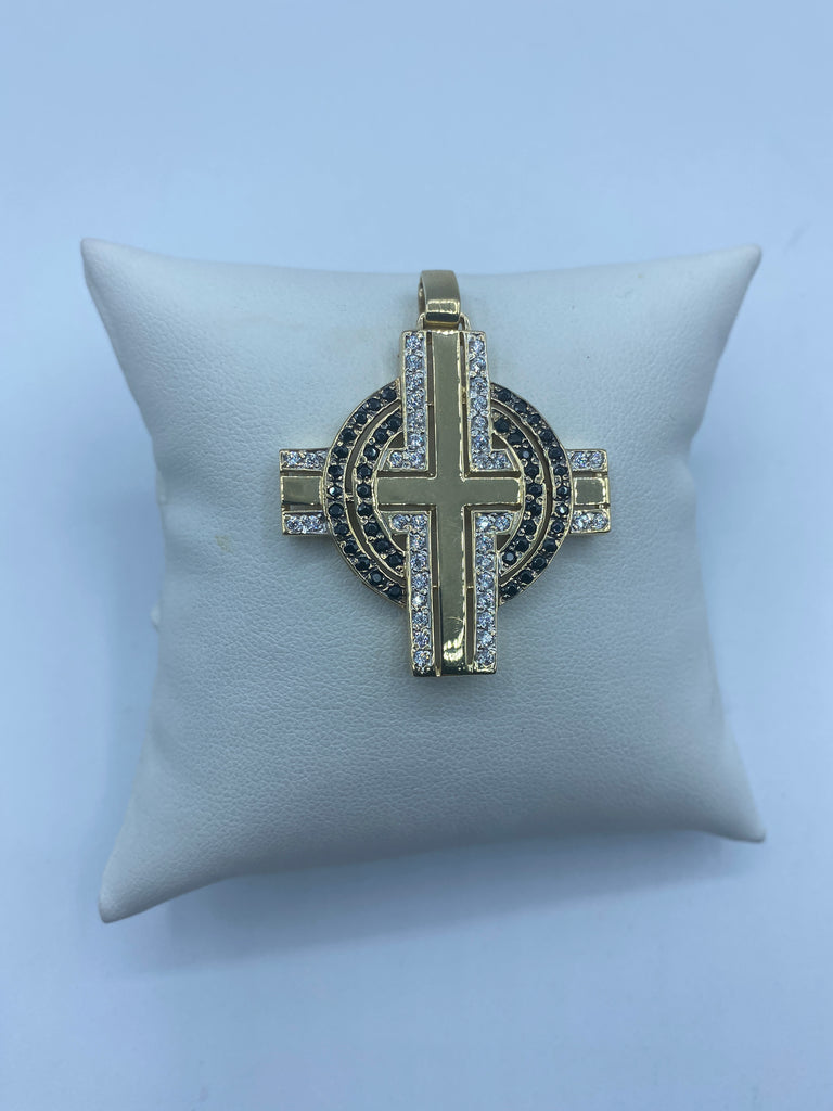 14ct Gold Necklace for men - Gold Chain  - Gold Cross Crucifix - Diamond Cross - JQ Jewels