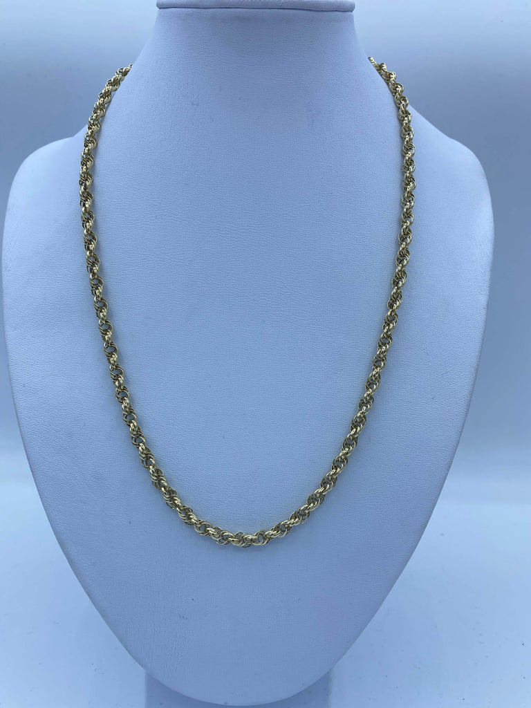 9ct Gold Chain Necklace - Rope Chain - JQ Jewels