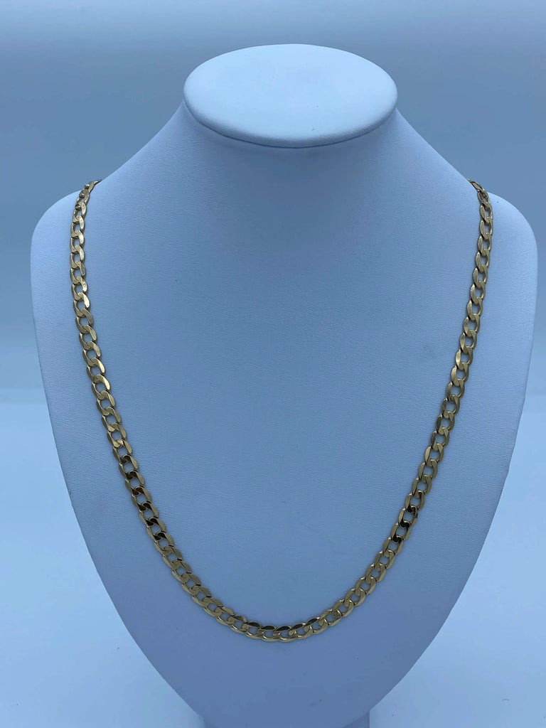 Gold Chain Necklace - Curb Chain - Childrens Jeweller - JQ Jewels