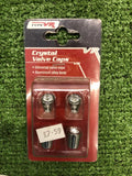 Wholesale Job Lot-Crystal Valve Cap, Pink & White x 8