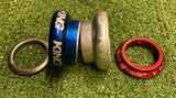 "Headset - Chris King NoThreadSet™ 1 1/8"" Blue/Red/Silver - Grade B+"