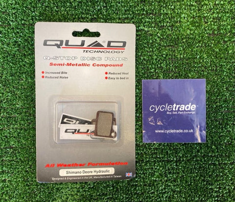 Disc Brake Pads - Quad Q-Stop Shimano Deore - NOS NEW