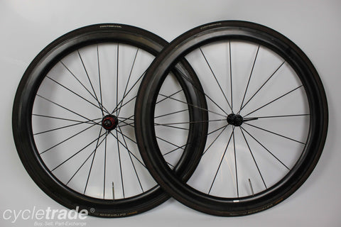 Road Wheelset- Planet X Carbon 45mm 11 Speed Tubular  - Grade B