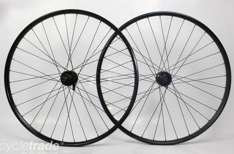 "MTB Wheelset- Bontrager Connection 29"" NB QR 6 Bold 7 Speed  - Grade C+"