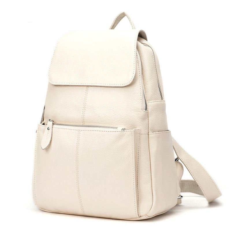 Soft Genuine Leather Large Women Backpack - roll4u