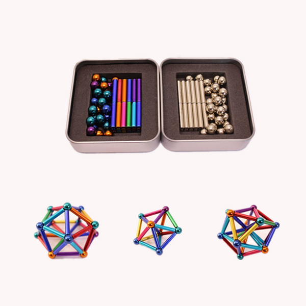 Colorful Magnetic Rods and Balls Construction Toy - roll4u