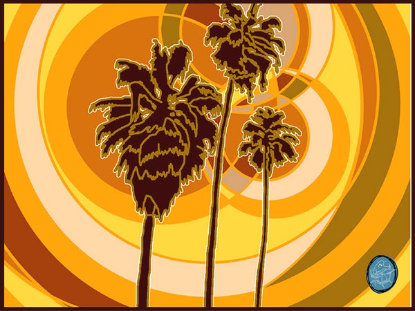 Palms archival giclee print by Richard Kaponas