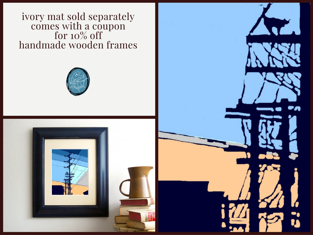 ivory mat sold separately comes with a coupon for 10% off handmade wooden frames