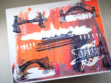 Five Boroughs #18 original handpulled screenprint by Kathryn DiLego