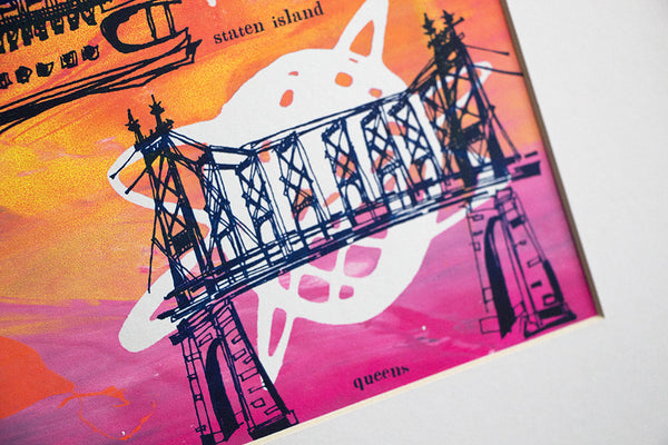 Five Boroughs #24 original handpulled screenprint by Kathryn DiLego