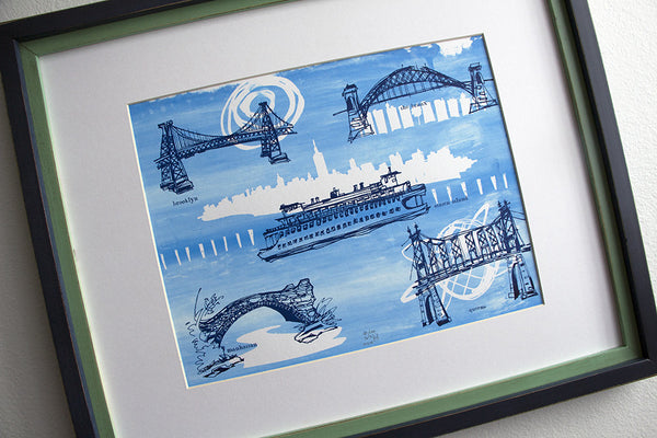 Five Boroughs #29 original handpulled screenprint by Kathryn DiLego