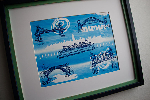 Five Boroughs #30 original handpulled screenprint by Kathryn DiLego