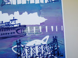 Five Boroughs #39 original handpulled screenprint by Kathryn DiLego